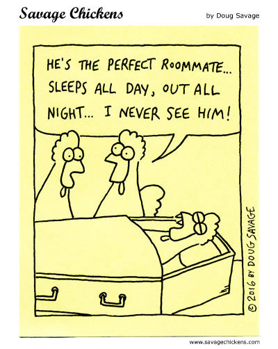 Savage Chickens Comic Strip for February 19, 2020