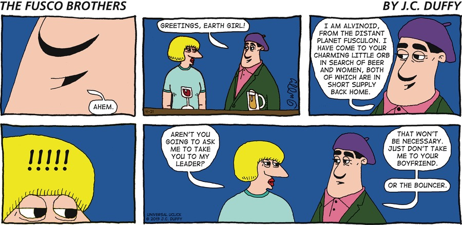 The Fusco Brothers for Apr 21, 2013 Comic Strip