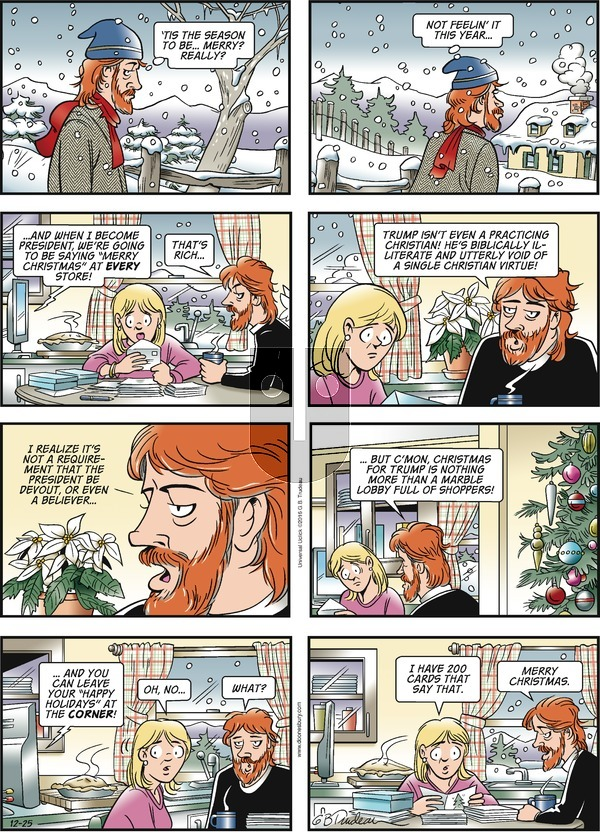 Doonesbury on Sunday December 25, 2016 Comic Strip