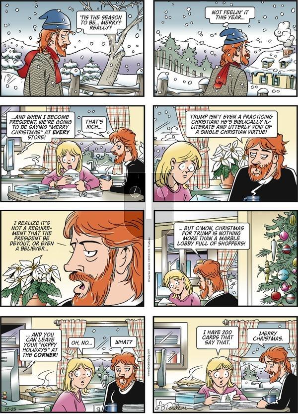 Doonesbury on Sunday December 25, 2016 Comic Strip