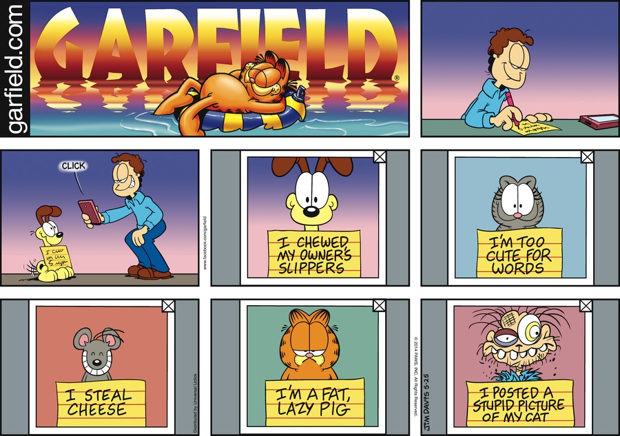 Garfield Comic Strip for May 25, 2014