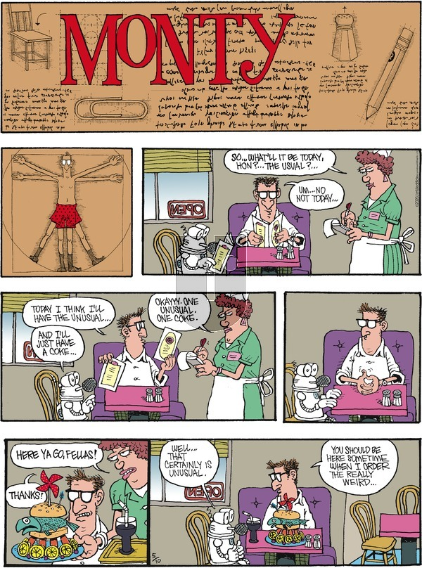 Monty on Sunday May 10, 2020 Comic Strip