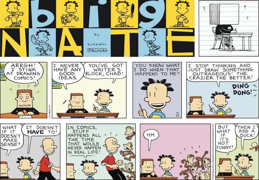Big Nate Comic Strip for April 26, 2020