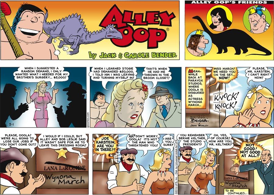 Alley Oop for Mar 1, 2015 Comic Strip