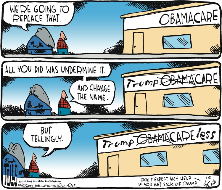 Tom Toles TrumpCare Cartoon