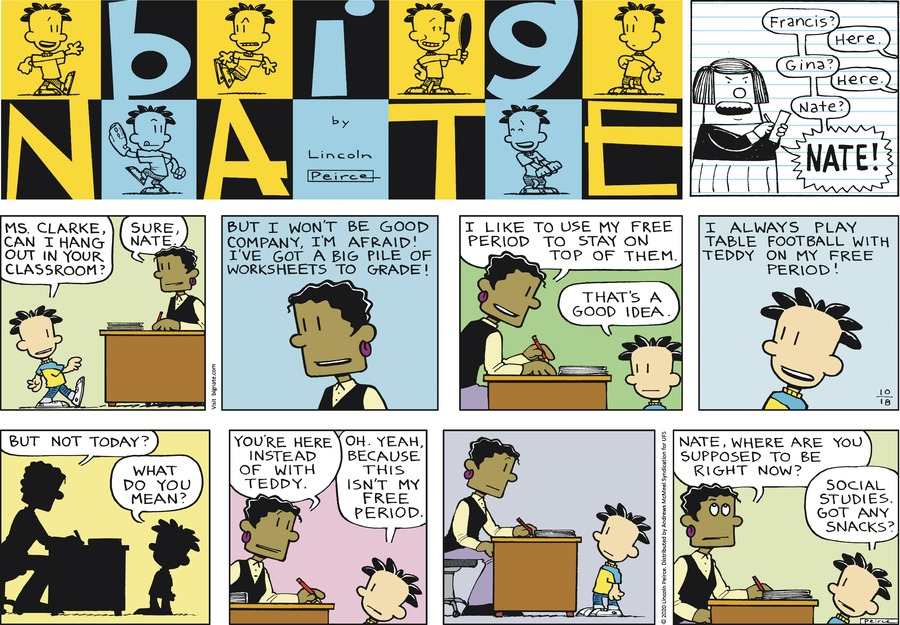 Big Nate Comic Strip for October 18, 2020