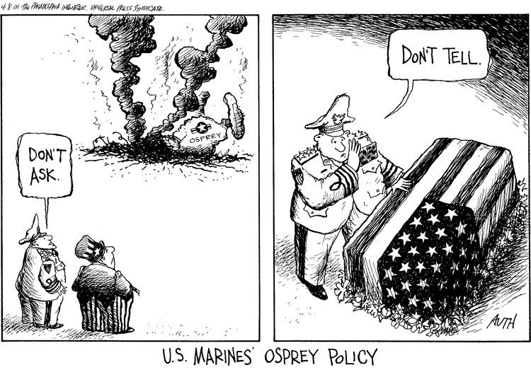 Tony Auth for Apr 8, 2001 Comic Strip