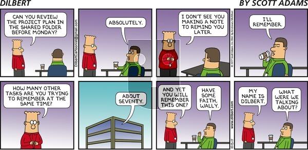 Dilbert on Sunday October 15, 2017 Comic Strip