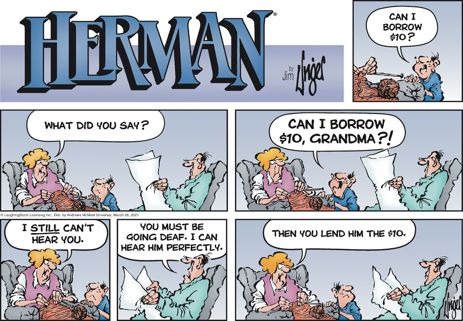 Herman Comic Strip for March 28, 2021