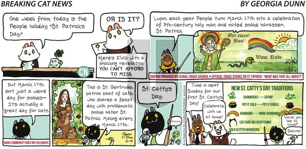 Breaking Cat News on Sunday March 10, 2019 Comic Strip