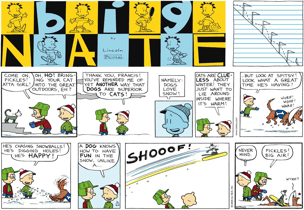 Big Nate Comic Strip for February 20, 2005