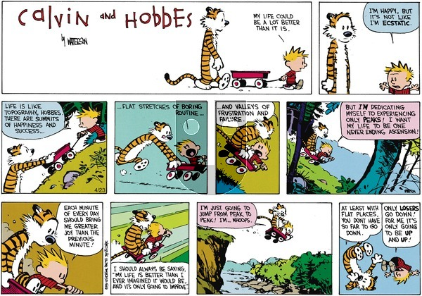 Calvin and Hobbes - Sunday June 10, 1990 Comic Strip