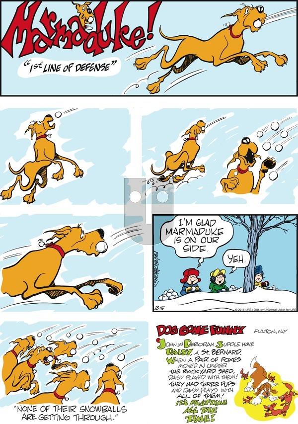 Marmaduke on Sunday February 15, 2015 Comic Strip