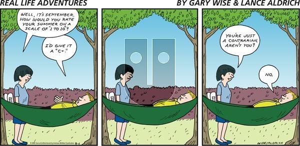 Real Life Adventures - Sunday September 1, 2019 Comic Strip