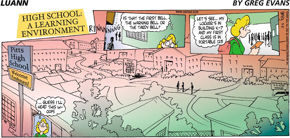 Luann Comic Strip for September 05, 1999