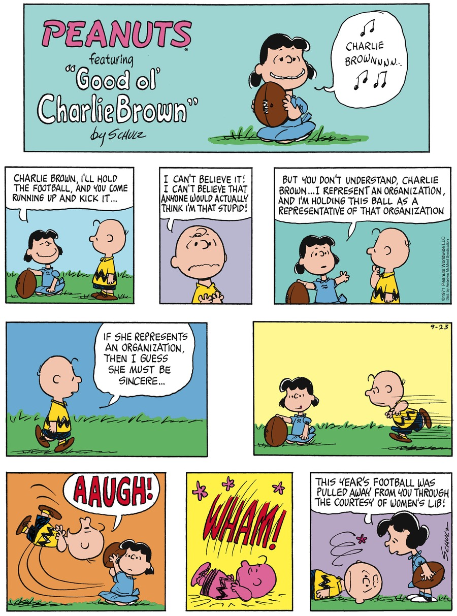 Peanuts Comic Strip for September 23, 2018