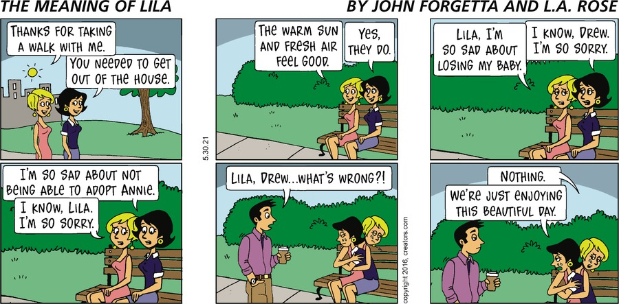 The Meaning of Lila Comic Strip for May 30, 2021