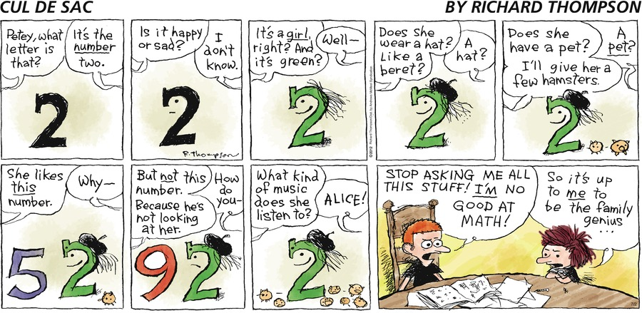 Cul de Sac Comic Strip for July 02, 2017