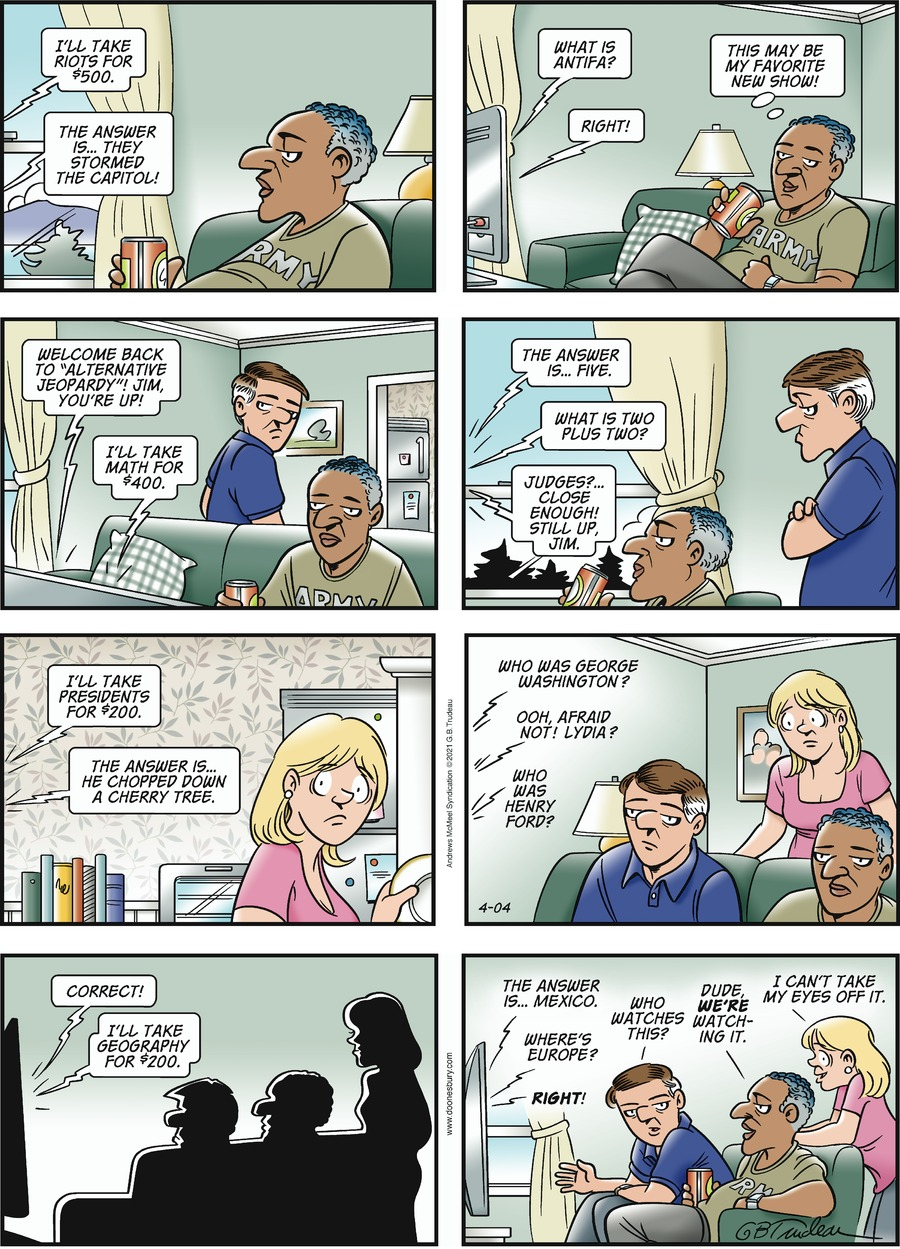 Doonesbury Comic Strip for April 04, 2021