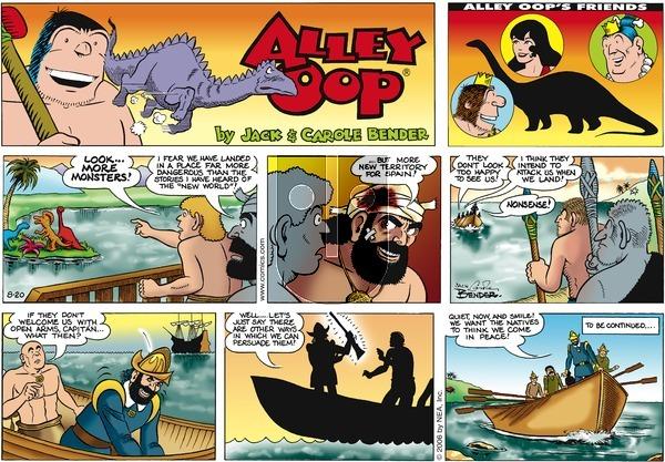 Alley Oop on Sunday August 20, 2006 Comic Strip
