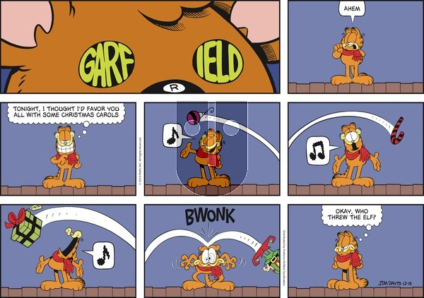 Garfield - Sunday December 15, 2019 Comic Strip