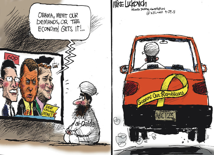 Mike Luckovich for Sep 29, 2013 Comic Strip