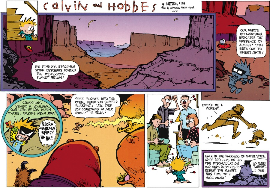 Calvin and Hobbes Comic Strip for June 30, 2013