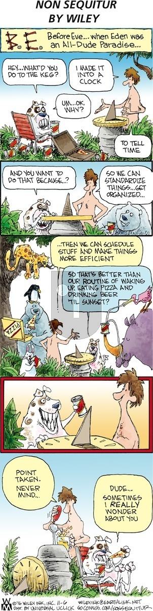 Non Sequitur on Sunday November 6, 2016 Comic Strip