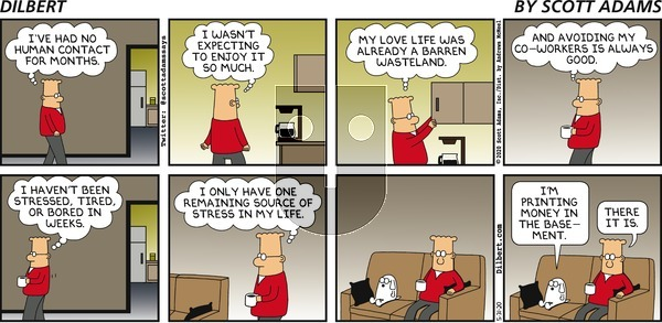 Dilbert on Sunday May 31, 2020 Comic Strip