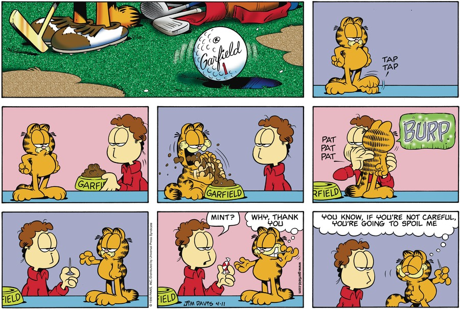 Garfield Comic Strip for April 11, 1999