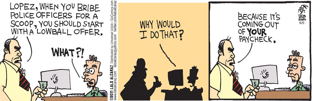 La Cucaracha Comic Strip for August 06, 2011