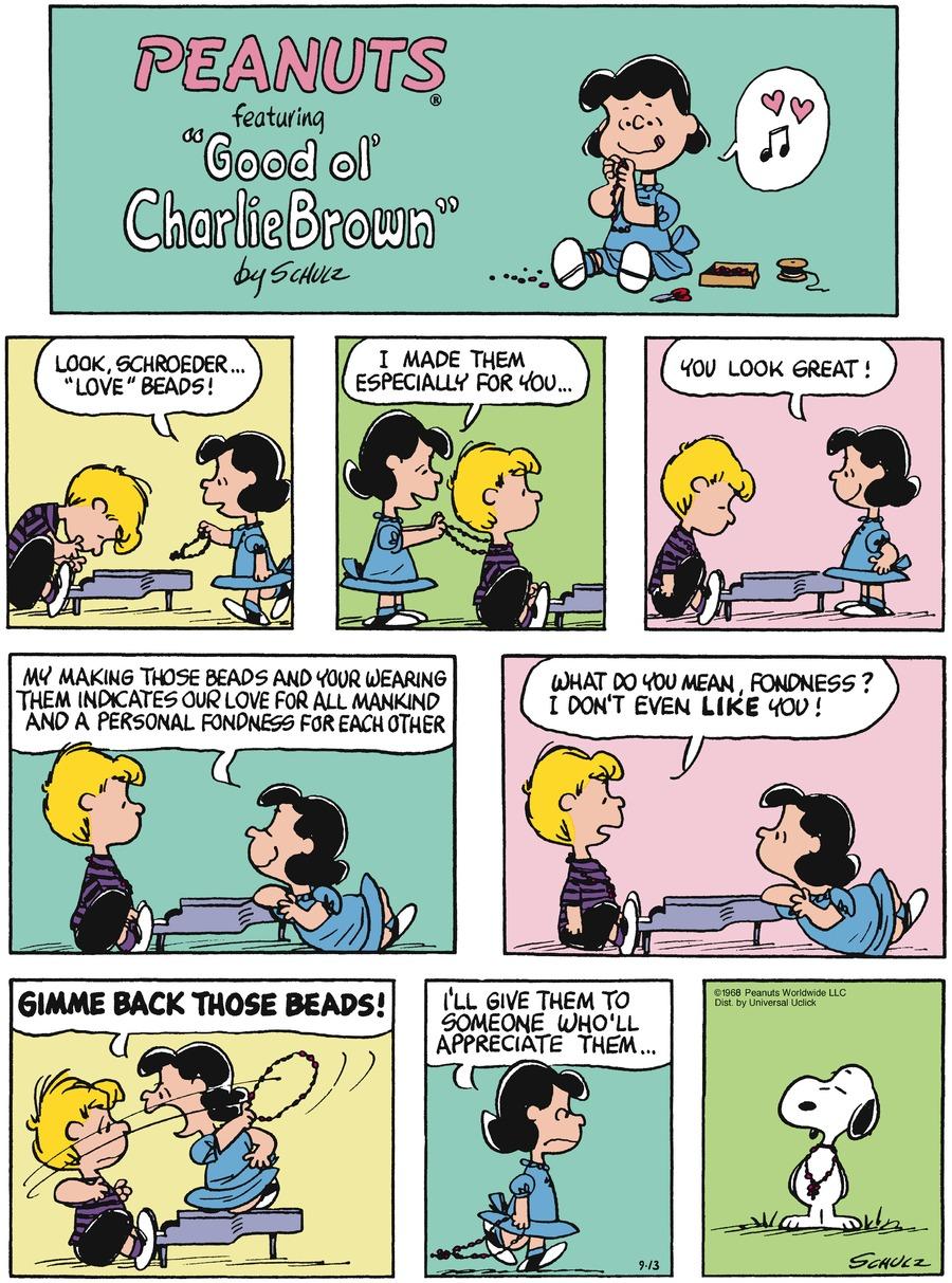Peanuts Comic Strip for September 13, 2015