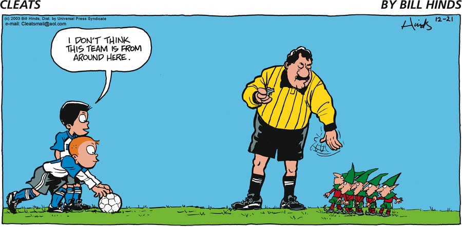 Cleats Comic Strip for December 21, 2003
