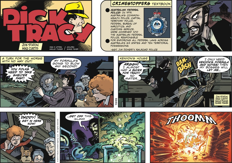 Dick Tracy Comic Strip for October 05, 2014