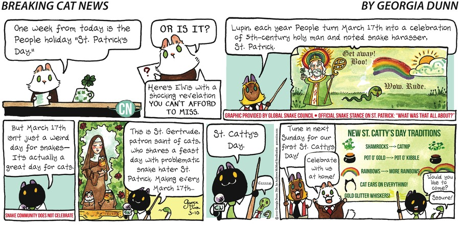 Breaking Cat News Comic Strip for March 10, 2019