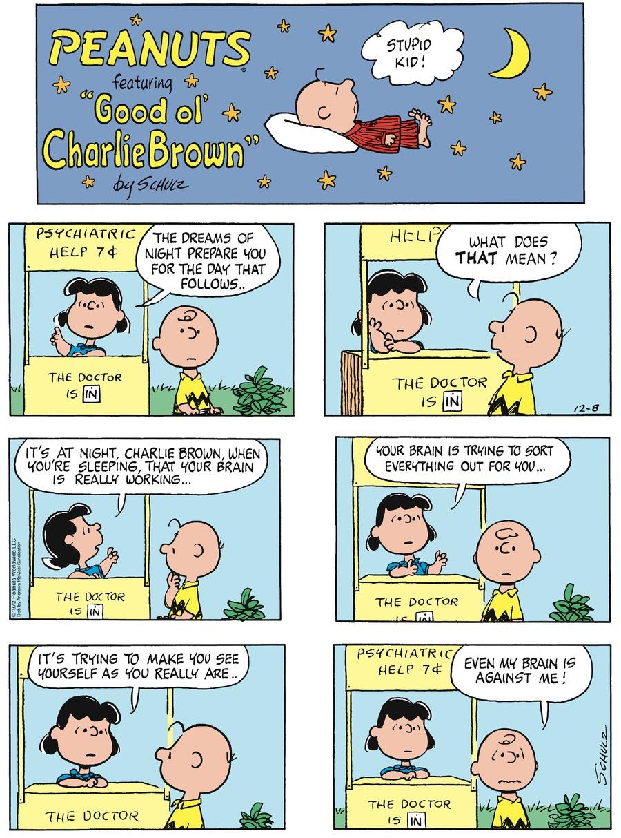 Peanuts Comic Strip for December 08, 2019