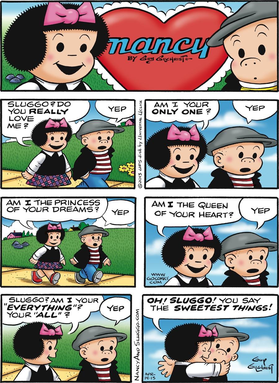 Nancy Comic Strip for April 14, 2013