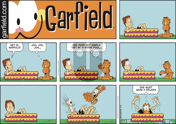 Garfield on Sunday July 14, 2019 Comic Strip