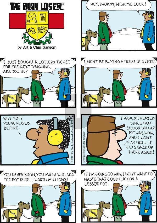 The Born Loser on Sunday February 28, 2021 Comic Strip