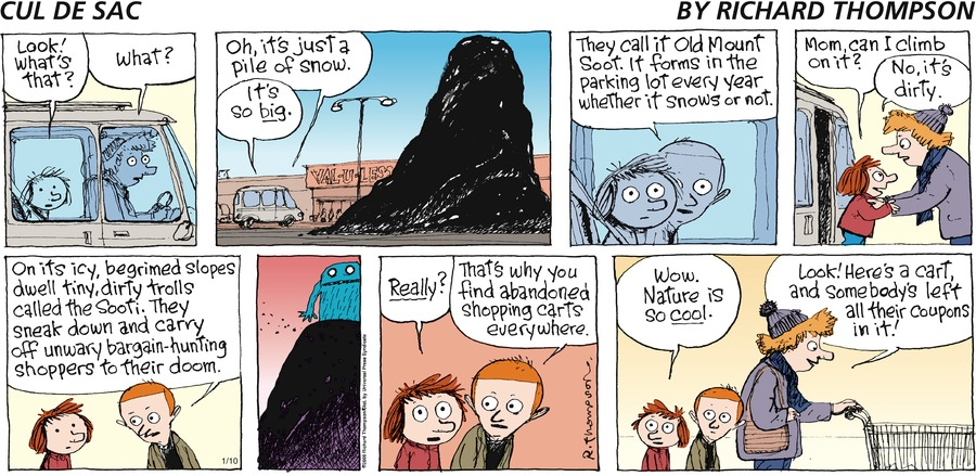 Cul de Sac Comic Strip for January 10, 2016