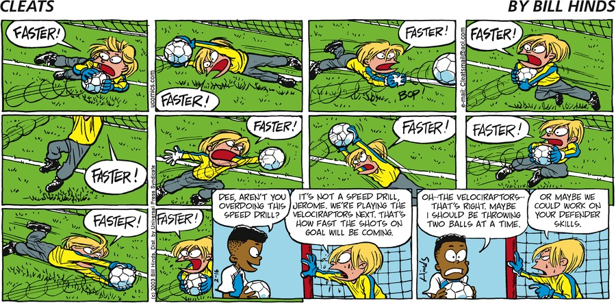 Cleats Comic Strip for January 25, 2021