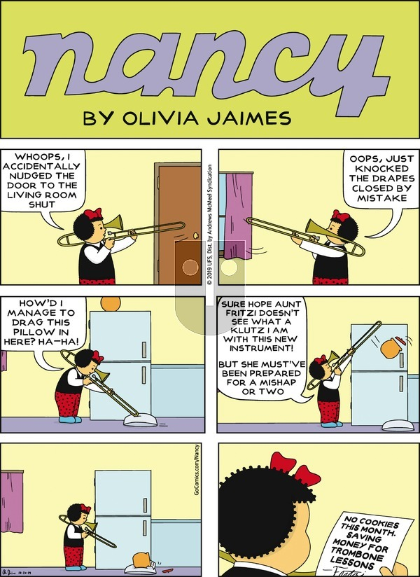 Nancy on Sunday October 20, 2019 Comic Strip