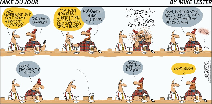 Mike du Jour Comic Strip for February 17, 2019