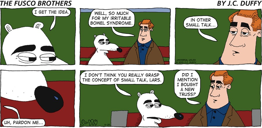 The Fusco Brothers for Nov 25, 2012 Comic Strip