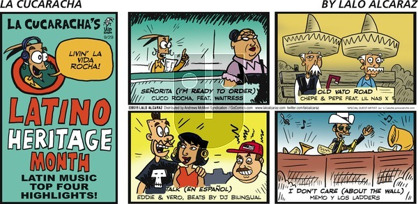 La Cucaracha on Sunday September 29, 2019 Comic Strip