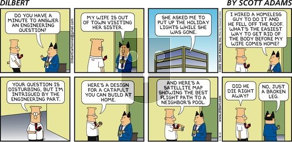 Dilbert on Sunday November 18, 2012 Comic Strip