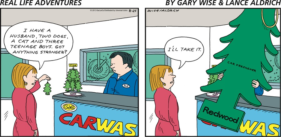 Real Life Adventures for Aug 25, 2013 Comic Strip