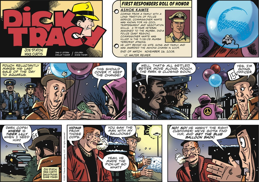 Dick Tracy Comic Strip for January 10, 2021