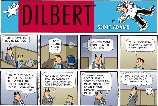 Dilbert - Sunday November 11, 2001 Comic Strip