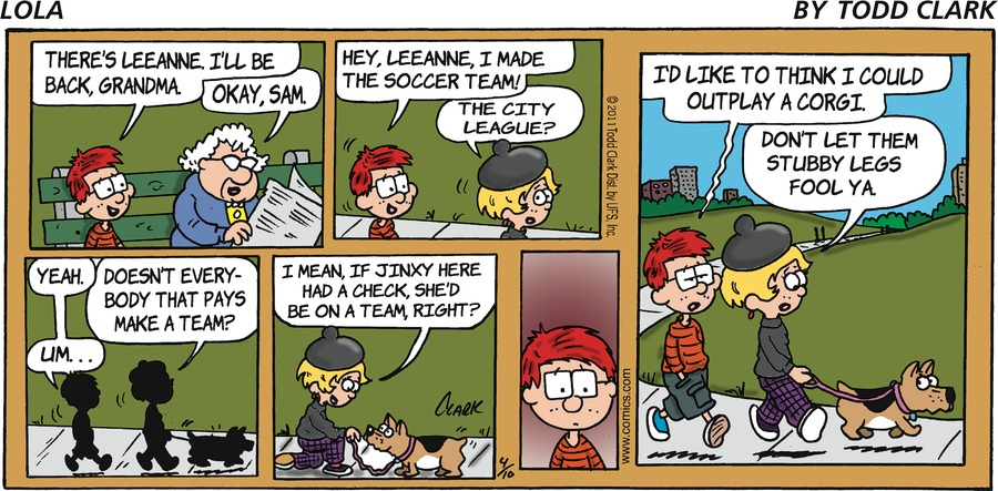 Lola for Apr 10, 2011 Comic Strip